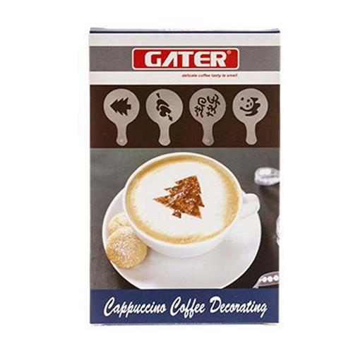 تخفیف ویژه خرید شابلون طراحی قهوه GATER دارای 16 طرح متنوع و زیبا