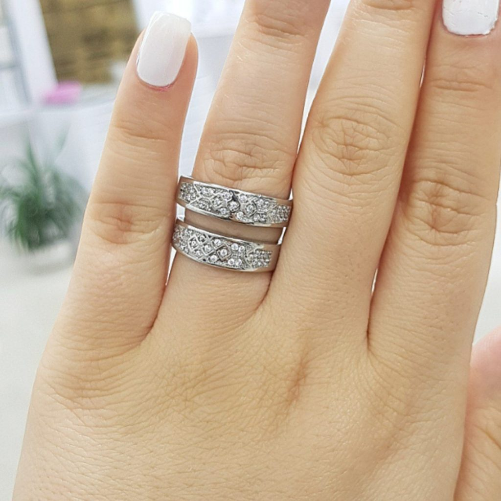 تخفیف ویژه خرید ست حلقه نقره زنانه مردانه